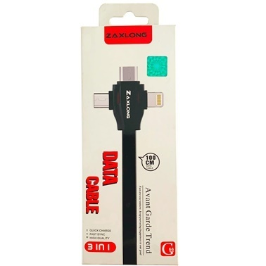 Lopard Type-C,Micro,iPhone 3İn1 Şarj Kablosu Usb/Data Hızlı Şarj Kablosu Renkli